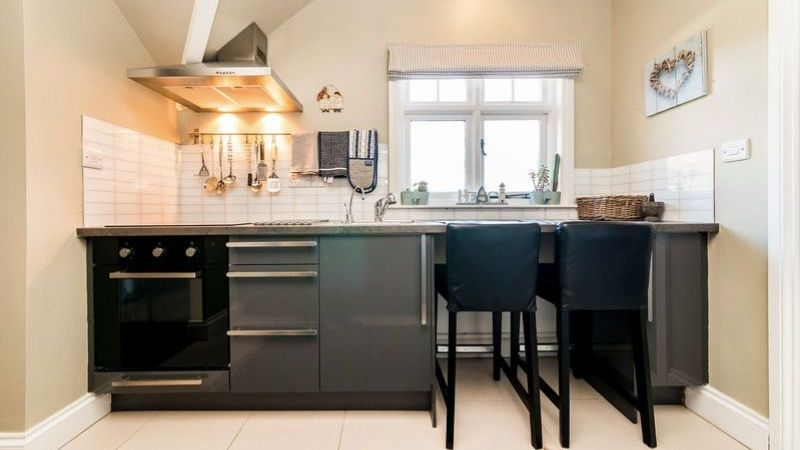 Enjoy the view over Sandsend from the kitchen of Pebble Cottage