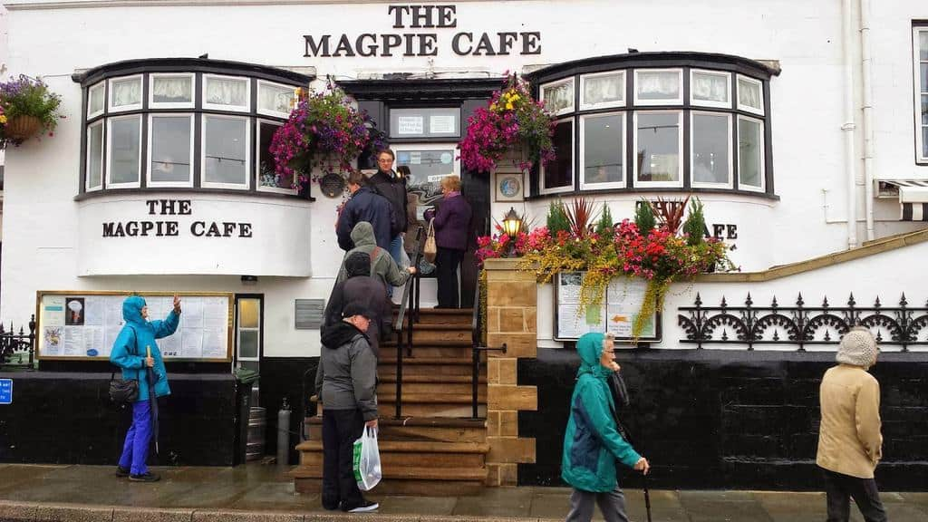 The Magpie Cafe is considered one of the best places to eat fish and chips in Whitby