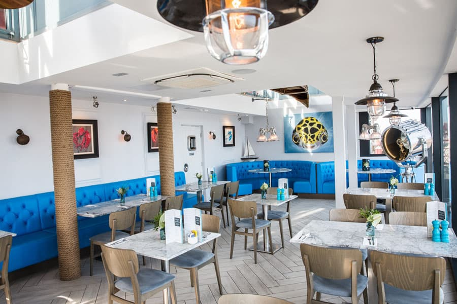 The Seaview Restaurant Interior; Best Fish & Chips on the Yorkshire Coast