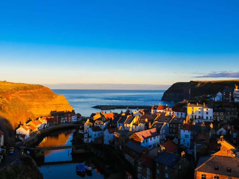 The Golden Hour at Staithes; 11 Awesome Things To Do On The North Yorkshire Coast