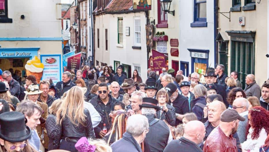 People of Whitby at Goth Weekend; 9 Reasons Why Goths Love Whitby