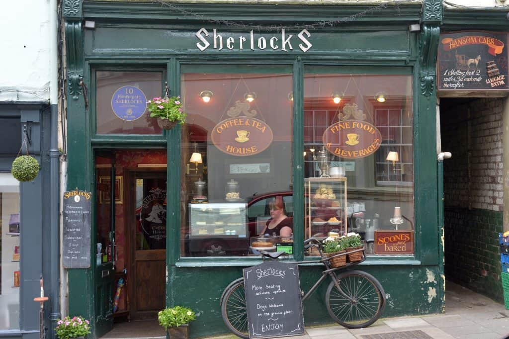 Sherlocks Coffee Shop; 9 Best Cafes for Tea and Cake in Whitby