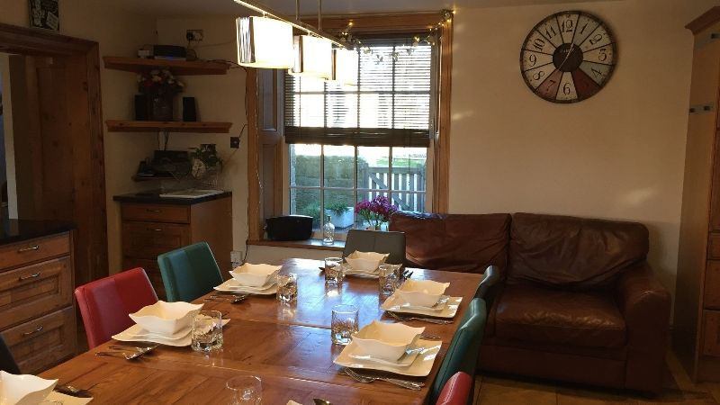 The dining room at Rosedale Cottage near Staithes