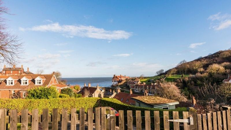 The view from Pebble Cottage in Sandsend