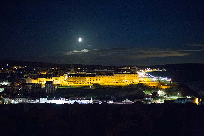 Whitby Town At Night