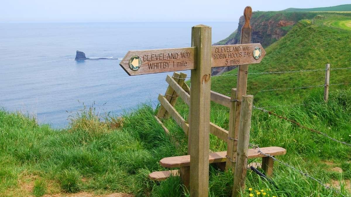 Cleaveland Way Sign Robin Hood's Bay Walks