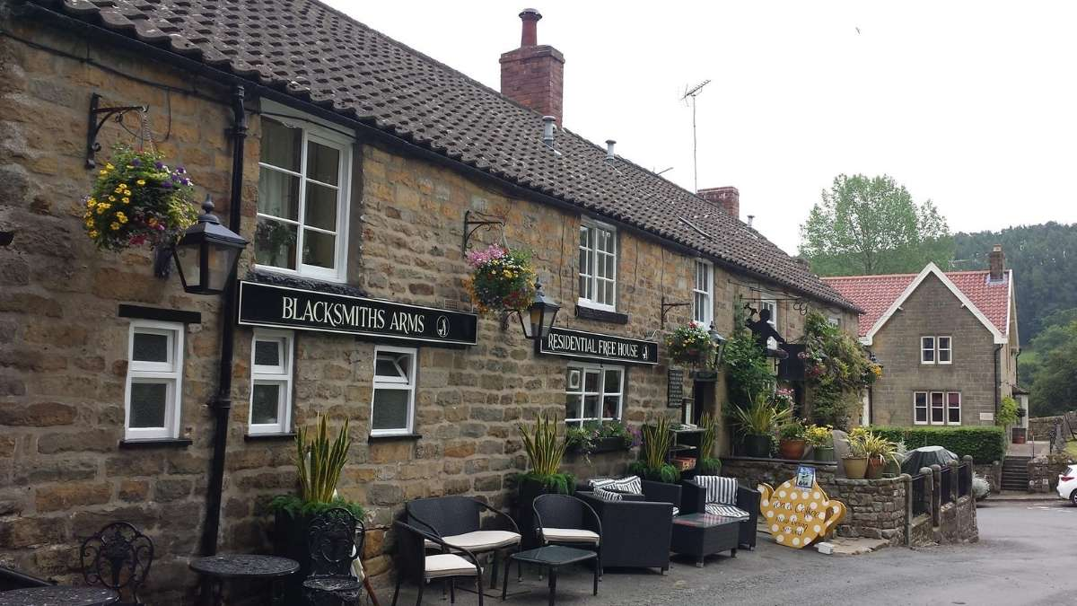 The Blacksmith's Arms is a popular pub in the North York Moors