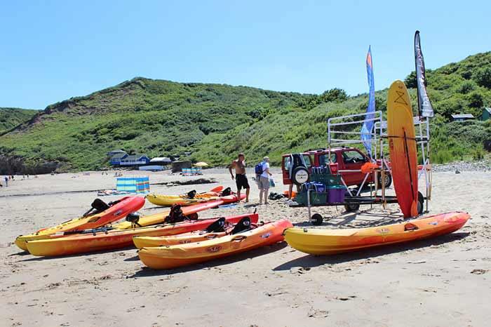 Water sports at Runswick Bay