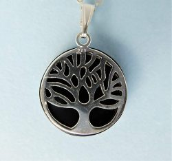 Whitby Jet and silver Tree of life