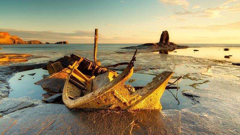 Admiral Von Tromp shipwreck at Saltwick Bay