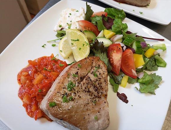 Runswick Bay Hotel Tuna Steak
