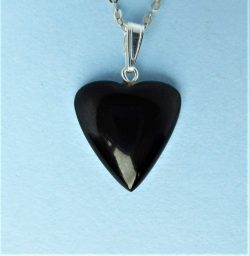 Whitby Jet Love Heart Pendant