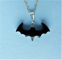 Whitby Jet Bat Shaped Pendant