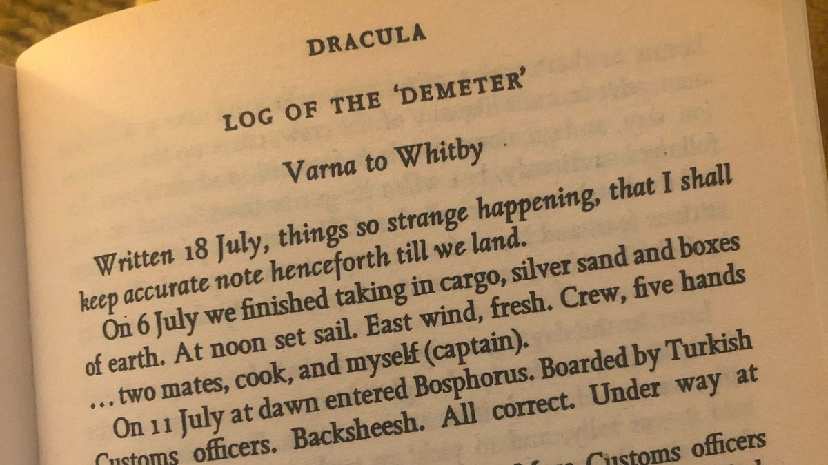 Dracula Novel Varna To Whitby Dracula Bram Stoker