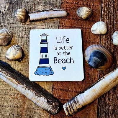 Lifes a beach coaster