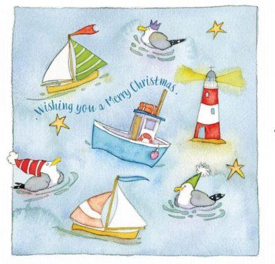 Seaside Themed Christmas Cards