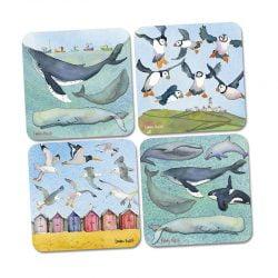 Sea Life Set Of 4 Coasters