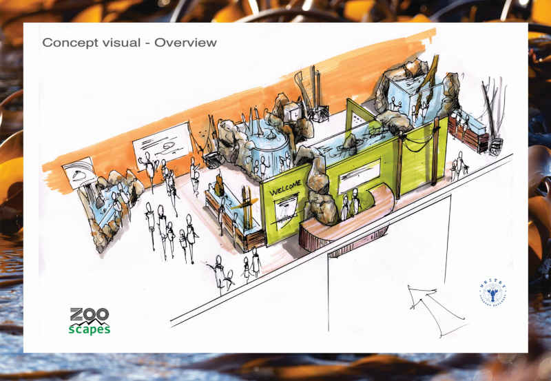 Artists impression of the Whitby Lobster Hatchery