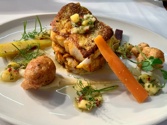 Fish dish from the Mallyan Spout Hotel in Goathland