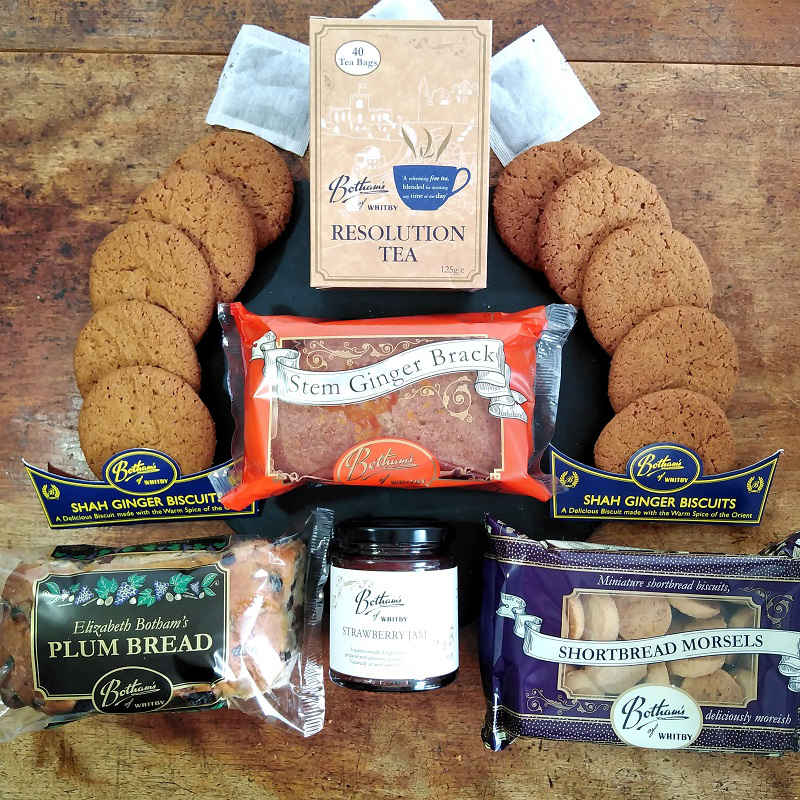 A delicious Botham's of Whitby hamper