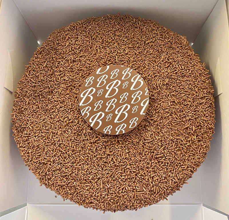 The Giant Jap Cake available at Botham's of Whitby