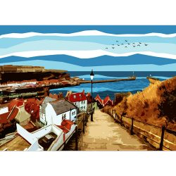 Whitby 199 Steps Limited Edition Print