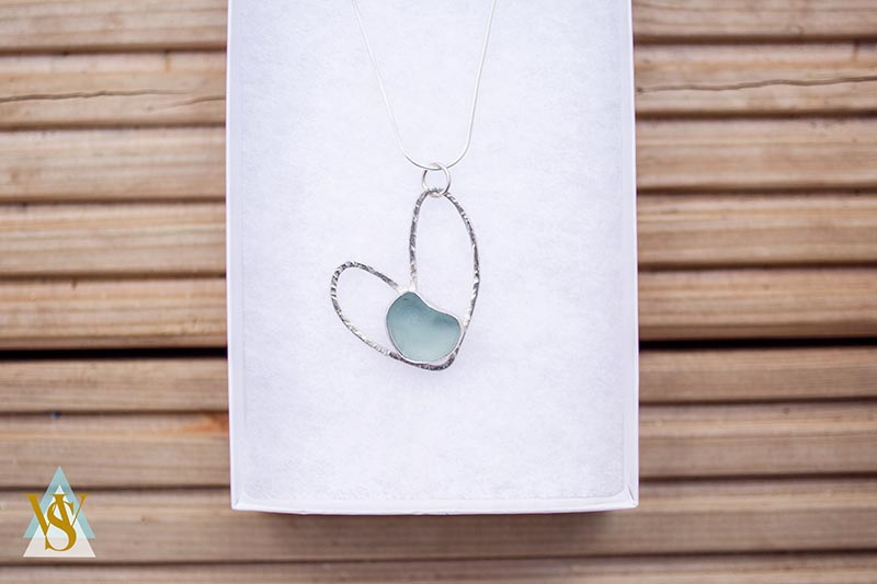 Heart in heart Whitby necklace