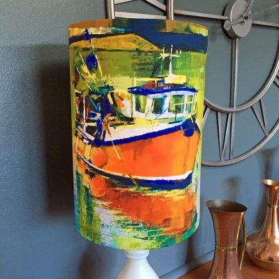 Bobbing in the Harbour Lampshade By Whitby Artist Kate Smith