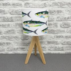 'Mackerel' Lampshade By Whitby Artist Kate Smith