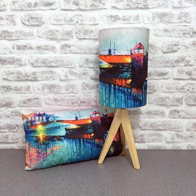 'Swing Bridge Reflection' Whitby Cushion