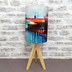 'Swing Bridge Reflection' Lampshade By Whitby Artist Kate Smith