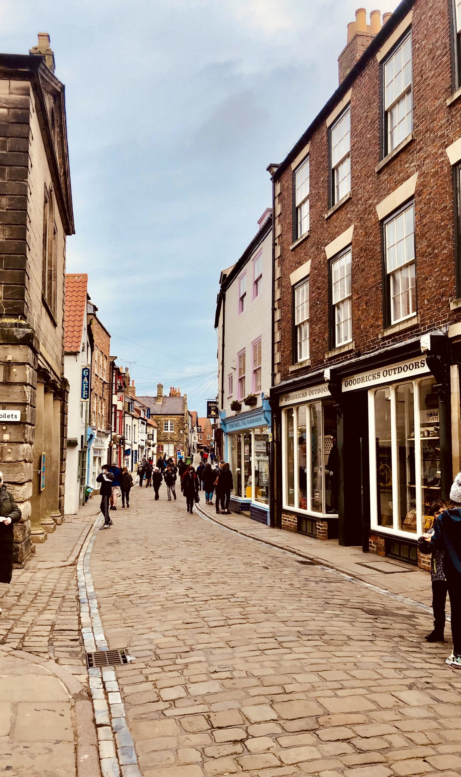 Shopping on Church Street in Whitby