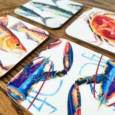 Sea Creatures Coaster Set