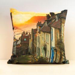 Robin Hood's Bay Sunrise Velvet Double Sided Cushion