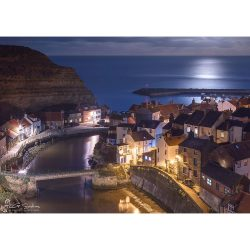 Staithes Moonlight Canvas