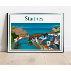 Staithes Contemporary Digital Art Print By Dean Milner-Bell