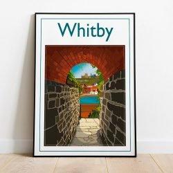 Whitby Keyhole, Contemporary Digital Art Print