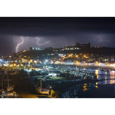 Whitby Lighting Storm Canvas