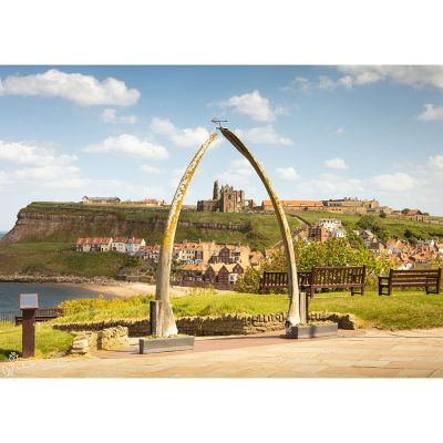 Whitby On A Sunny Spring Day Canvas