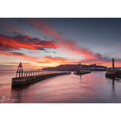 Whitby Winter Dawn Canvas