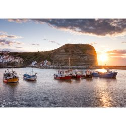 Staithes Fishing Boats Canvas