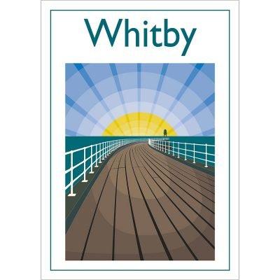 Whitby Pier, Contemporary Digital Art Print