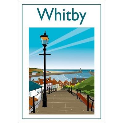 Whitby Steps, Contemporary Digital Art Print