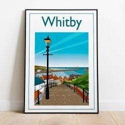 Whitby Steps Art Print