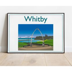 Whitby Whalebones, Contemporary Digital Art Print