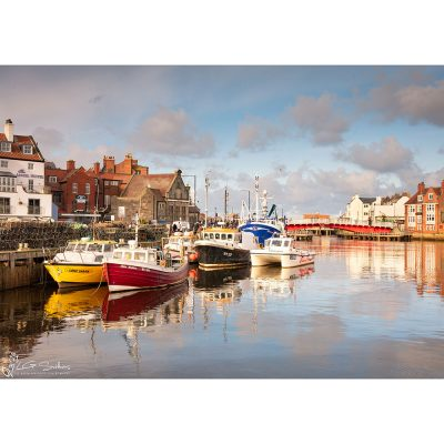 Winter Afternoon In Whitby Harbour Canvas