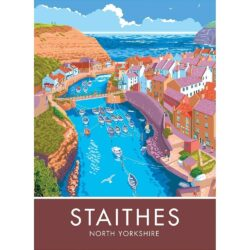Staithes Digital Art Print By Stephen Millership