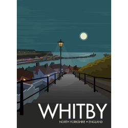 199 Steps Whitby, Digital Art Print By Georgina Westley