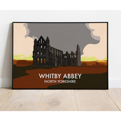 Whitby Abbey Art Print By Lloyd Hopkinson