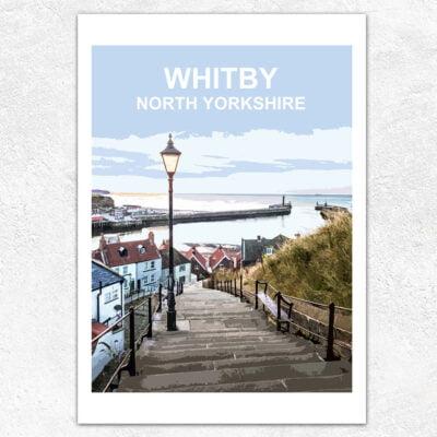 199 Steps Whitby, Art Print By Barbara Glebska